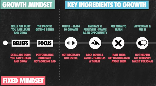 Growth versus Fixed Mindset Video Screenshot